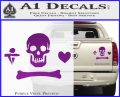 Jolly Roger Stede Bonnet Crossbones Decal Sticker. Purple Vinyl 120x97