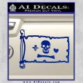 Jolly Roger Stede Bonnet Pirate Flag INT Decal Sticker Blue Vinyl 120x120
