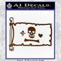 Jolly Roger Stede Bonnet Pirate Flag INT Decal Sticker Brown Vinyl 120x120
