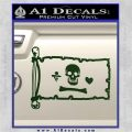 Jolly Roger Stede Bonnet Pirate Flag INT Decal Sticker Dark Green Vinyl 120x120