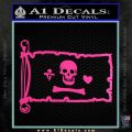Jolly Roger Stede Bonnet Pirate Flag INT Decal Sticker Hot Pink Vinyl 120x120
