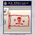 Jolly Roger Stede Bonnet Pirate Flag INT Decal Sticker Red Vinyl 120x120