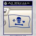 Jolly Roger Stede Bonnet Pirate Flag SL Decal Sticker Blue Vinyl 120x120