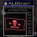 Jolly Roger Stede Bonnet Pirate Flag SL Decal Sticker Pink Vinyl Emblem 120x120