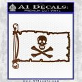 Jolly Rogers Edward England Pirate Flag INT Decal Sticker Brown Vinyl 120x120