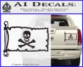 Jolly Rogers Edward England Pirate Flag INT Decal Sticker Carbon Fiber Black 120x97