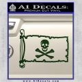 Jolly Rogers Edward England Pirate Flag INT Decal Sticker Dark Green Vinyl 120x120