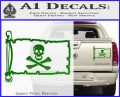 Jolly Rogers Edward England Pirate Flag INT Decal Sticker Green Vinyl 120x97