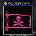 Jolly Rogers Edward England Pirate Flag INT Decal Sticker Hot Pink Vinyl 120x120