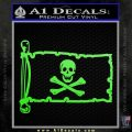 Jolly Rogers Edward England Pirate Flag INT Decal Sticker Lime Green Vinyl 120x120