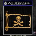 Jolly Rogers Edward England Pirate Flag INT Decal Sticker Metallic Gold Vinyl 120x120