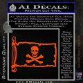 Jolly Rogers Edward England Pirate Flag INT Decal Sticker Orange Vinyl Emblem 120x120