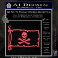 Jolly Rogers Edward England Pirate Flag INT Decal Sticker Pink Vinyl Emblem 120x120