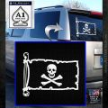 Jolly Rogers Edward England Pirate Flag INT Decal Sticker White Emblem 120x120