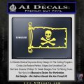 Jolly Rogers Edward England Pirate Flag INT Decal Sticker Yelllow Vinyl 120x120