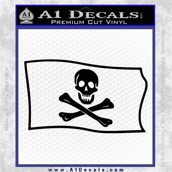 Jolly Rogers Edward England Pirate Flag SL Decal Sticker Black Logo Emblem