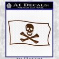 Jolly Rogers Edward England Pirate Flag SL Decal Sticker Brown Vinyl 120x120