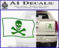 Jolly Rogers Edward England Pirate Flag SL Decal Sticker Green Vinyl 120x97