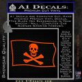 Jolly Rogers Edward England Pirate Flag SL Decal Sticker Orange Vinyl Emblem 120x120
