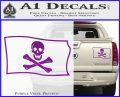 Jolly Rogers Edward England Pirate Flag SL Decal Sticker Purple Vinyl 120x97