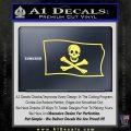 Jolly Rogers Edward England Pirate Flag SL Decal Sticker Yelllow Vinyl 120x120