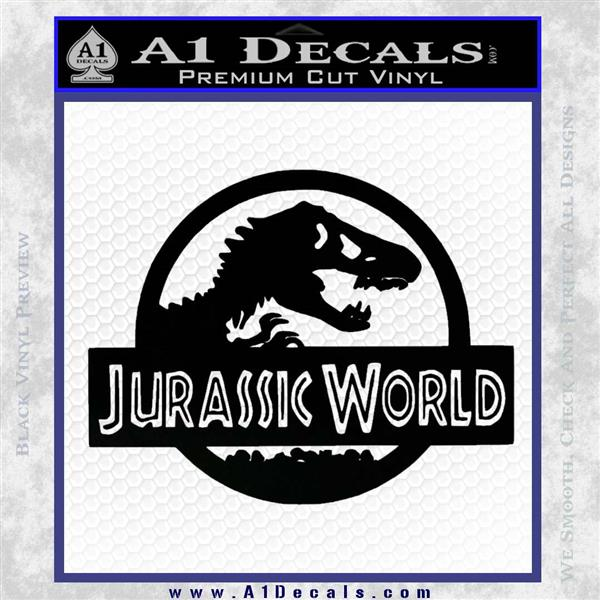 Jurassic World Decal Sticker Black Logo Emblem 1