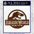Jurassic World Decal Sticker Brown Vinyl 1 120x120