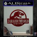 Jurassic World Decal Sticker Dark Red Vinyl 1 120x120