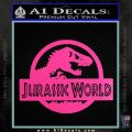 Jurassic World Decal Sticker Hot Pink Vinyl 1 120x120