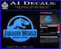 Jurassic World Decal Sticker Light Blue Vinyl 1 120x97