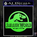 Jurassic World Decal Sticker Lime Green Vinyl 1 120x120