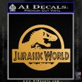 Jurassic World Decal Sticker Metallic Gold Vinyl 1 120x120