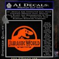Jurassic World Decal Sticker Orange Vinyl Emblem 1 120x120