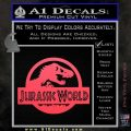 Jurassic World Decal Sticker Pink Vinyl Emblem 1 120x120