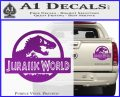 Jurassic World Decal Sticker Purple Vinyl 1 120x97