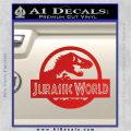 Jurassic World Decal Sticker Red Vinyl 1 120x120