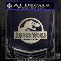 Jurassic World Decal Sticker Silver Vinyl 1 120x120