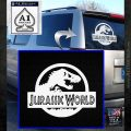 Jurassic World Decal Sticker White Emblem 1 120x120