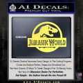 Jurassic World Decal Sticker Yelllow Vinyl 1 120x120