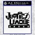 Justice League Text Logo Vinyl Decal Sticker Black Logo Emblem 120x120