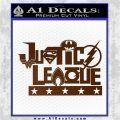 Justice League Text Logo Vinyl Decal Sticker Brown Vinyl 120x120