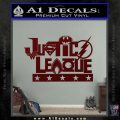Justice League Text Logo Vinyl Decal Sticker Dark Red Vinyl 120x120