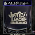 Justice League Text Logo Vinyl Decal Sticker Silver Vinyl 120x120