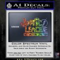 Justice League Text Logo Vinyl Decal Sticker Sparkle Glitter Vinyl 120x120