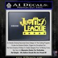 Justice League Text Logo Vinyl Decal Sticker Yelllow Vinyl 120x120