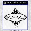 KMC Wheels Flame Decal Sticker Black Logo Emblem 120x120