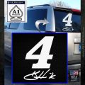 Kevin Harvik 4 Nascar Decal Sticker White Emblem 120x120