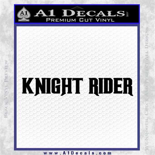 Knight Rider TX1 Decal Black Logo Emblem