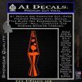 Lava Lamp Decal Sticker Orange Vinyl Emblem 120x120