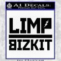 Limpbizkit Band Logo 4 Decal Sticker VZL Black Logo Emblem 120x120